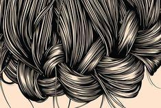 Hair Illustrations by Gerrel Saunders | Cuded