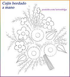 Artesd'Olga: Cojín bordado a mano | Pillow embroidery design