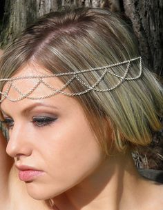 Wedding Headpiece, Goddess Headpiece, Chain Headpiece Bridal BOHO Bohemian Headpiece Hippie Hair jewelry Gold or Silver on Etsy, £8.25
