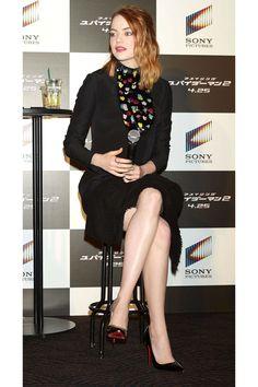 "Emma Stone's Amazing ""Spider-Man"" Style - HarpersBAZAAR.com"