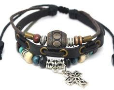 4030146 Christian Cross Leather Scripture Bible Bracelet Religious Christian Leather Bracelets. $8.99. Fashionable. Handmade. Beautiful Christian Design. Includes Beautiful Bow Tie Satin Lined Gift Box. Variable Sizes for Comfort Fit