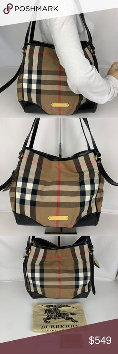 061d2ac84b New Burberry Bridle House Check Canterbury Tote Authentic Burberry Style  3831797. New with Tag,