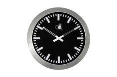 RelógioPreto Alumínio 30 cm