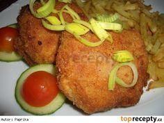 Smažené tvarůžky s herkulesem a angl. Bon Appetit, Baked Potato, Grains, Potatoes, Rice, Meat, Chicken, Baking, Ethnic Recipes