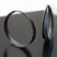 Anticlastic earrings in sterling silver  Corrugated by Revonav, $125.00