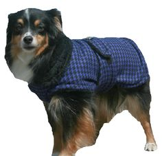 Designer Dog Coat with collar made made just for your dog - pinned by pin4etsy.com