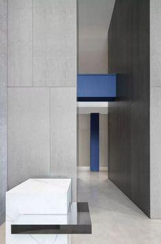 "解构""蓝之十字"" | 尔我空间设计工程实例--ansuner现代经典设计师创意家具定制-现代家具|时尚家具|现代家居|时尚家居|别墅家具| Kitchen Interior, Interior Design Living Room, Color Scale, Blue Block, Main Entrance, Floor Space, Second Floor, Design Elements, The Originals"