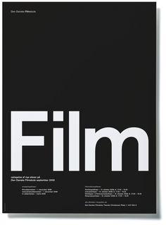 Film School application poster by Rasmus Koch