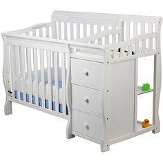 Dream On Me, Jayden 3 In 1 Portable Crib Convertible With Changer, White