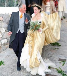 Wedding of Princess Olga of Greece to Prince Aimone-here with her father Prince Michael (cousin of former King Constantine) in 2008