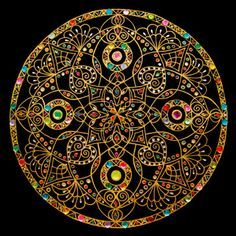 Lots of pretty mandalas on this artist's page, although many of them are in rather garishly bright colors. Mandalas