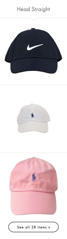 """""""Head Straight"""" by isabella-scognamiglio ❤ liked on Polyvore featuring accessories, hats, fillers, headwear, caps hats, black, sports fashion, training accessories, womens-fashion and black hat"""