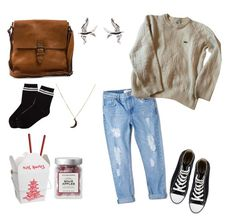 """""""december baby⛄"""" by sarabriotti ❤ liked on Polyvore featuring Boomerang, MANGO, Monki, Converse, Lacoste, Charlotte Russe, outfit, love, swag and art"""