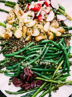 Vegan Nicoise-ish Salad with Grilled Asparagus - The First Mess
