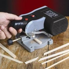 Would be cool for metal tubes for bails.  Our popular Miter/Cut-Off saw cuts steel, brass, aluminum, wood and just about everything else in 1/10th the time it takes to cut by hand. The cuts are so smooth and accurate, you may never have to file or sand cut ends again!