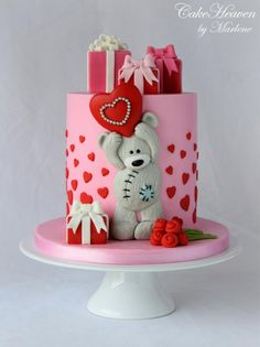 Cake Artist of the Month - American Cake Decorating Cute Cakes, Yummy Cakes, Beautiful Cakes, Amazing Cakes, Mini Cakes, Cupcake Cakes, Teddy Bear Cakes, Valentines Day Cakes, Holiday Cakes