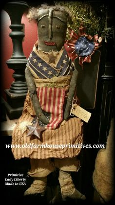 Primitive Sitting Lady Liberty (Made In USA)