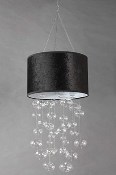 Black Shade Bubble Chandelier by All that Shimmers Lighting on @HauteLook