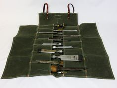 Waxed Canvas Tool Roll — Texas Heritage Woodworks