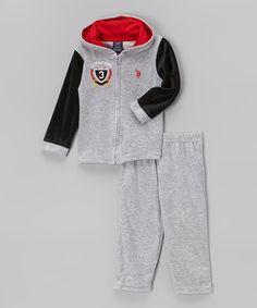 Look at this #zulilyfind! Light Gray Layered Hoodie & Pants - Infant #zulilyfinds