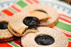 Carob Ganache Linzer Cookies