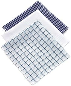 Half a dozen men//women high quality blue classic plaid cotton handkerchief//squar