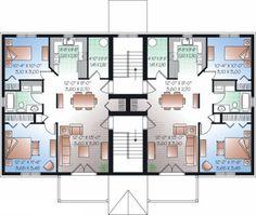 plan de maison 6-plex
