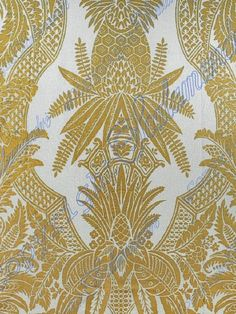 DecoratorsBest - Detail1 - Scala CO 16482-004 - East India Linen - Oro e Bianco - Fabrics - DecoratorsBest