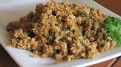 T. V. P. Sausage Crumbles (Vegetarian/Vegan/Gluten-Free) - uses nutritional yeast and blackstrap molasses!