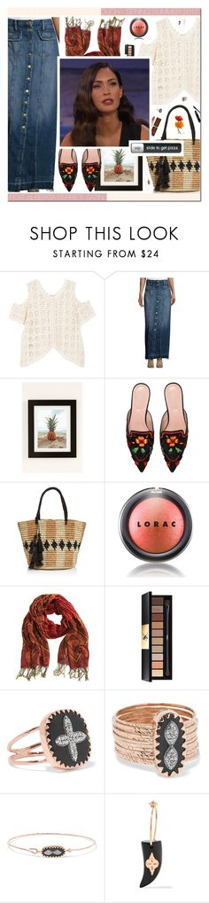 """Orange Touch !"" by carla-turner-bastet ❤ liked on Polyvore featuring MANGO, Current/Elliott, Urban Outfitters, Alberta Ferretti, Sensi Studio, LORAC, Overland Sheepskin Co., L'Oréal Paris, Yves Saint Laurent and Pascale Monvoisin"