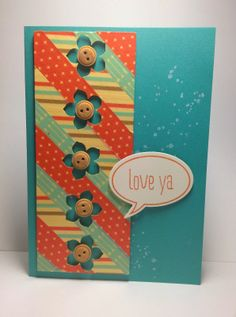 Retro Fresh Card with Petite Petals punch