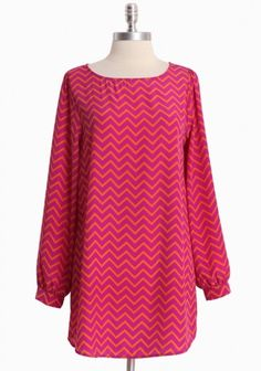 Dylana Mod Tunic Dress In Magenta | Modern Vintage Simply Smitten