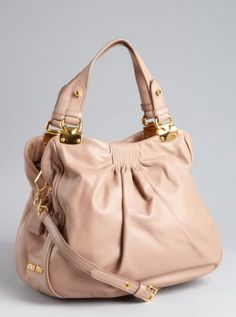 Miu Miu beige leather convertible tote