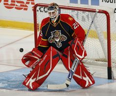 Thomas Vokoun Goalie Gear, Goalie Mask, Hockey Goalie, Panthers Team, Florida Panthers, Nhl Players, National Hockey League, Sports, Masks