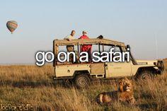 Even a local drive through Safari would be a fun date.... Check!