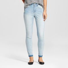 Women's High-rise Skinny - Mossimo Light Wash