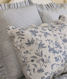 I am a total sucker for ticking stripes and toile...from Country Curtains