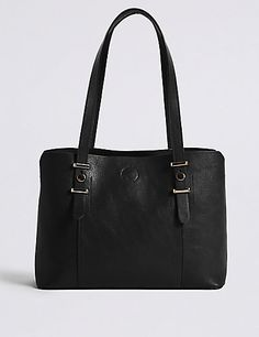 £27.50     Faux Leather Soft Stud Tote Bag | M&S