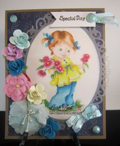 Fistful of Flowers by Whimsy Stamps, DT project for Quick Creations, April, 2015, created by leah Tees, odetopaper.blogspot.ca