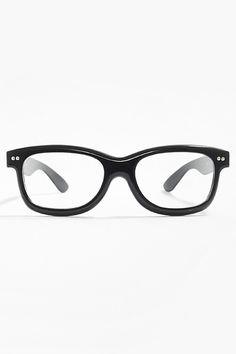 873e7e129e  Kirsten  Thick Frame Clear Wayfarer Glasses - Black..... Wayfarer
