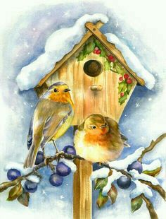 20 new Ideas robin bird illustration christmas cards Christmas Bird, Christmas Scenes, Christmas Crafts, Illustration Noel, Christmas Illustration, Vintage Christmas Images, Christmas Pictures, Images Noêl Vintages, Old Fashioned Christmas