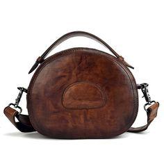 79d9706a7c US 61.72 - Women Vintage Genuine Leather Handbags Solid Crossbody Bags