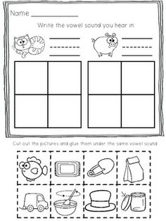 math worksheet : 1000 images about k  rhyming word families on pinterest  word  : Rhyming Worksheets For Kindergarten Cut And Paste
