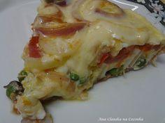 Fritada de Ovos a Portuguesa Pasta, Carne, Lasagna, Cake Recipes, Breakfast Recipes, Cabbage, Food And Drink, Low Carb, Vegetables