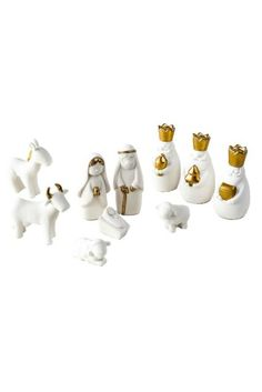 One Hundred 80 Degrees 10 Pc Porcelain Nativity Set with Gold Trim, Boxed | eBay