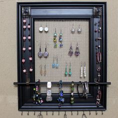 picture frame screen jewelry holder - Google Search