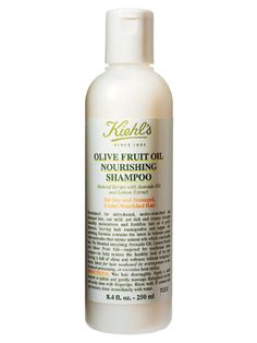 Kiehl's Olive Fruit Oil Nourishing Shampoo  Detangling and moisturizing, but not so heavy that it weighs down hair, this rich treatment shampoo is particularly good for damaged, over-processed hair. The combination of moisturizing avocado oil and ceramides adds shine and softness, and the lemon oil leaves behind the greatest citrusy scent.  $18/8.4 oz.