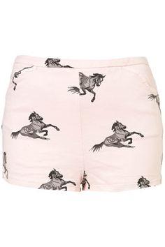 Petite Horse Print Shorts - Topshop Price: £30.00