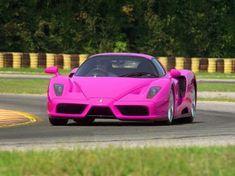 Pink Ferrari - even though the blogger calls it a Lamborghini!