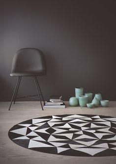 Alfombra de cuero AMBITION, de la colección Leather de Linie Design.